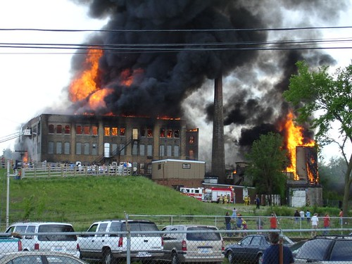 A massive fire at an old candy factory in Bloomington, IL. Sometimes you just gotta be in the right place at the right time.
