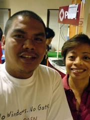 With Sheila Coronel
