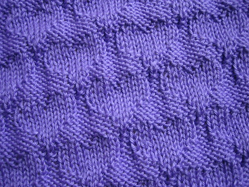 Details of purple baby blanket