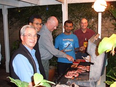 Aussie Barbie with Rotarians of RC Osborne Park