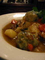 Lamb Stew with Garlic & Parsley Dumplings