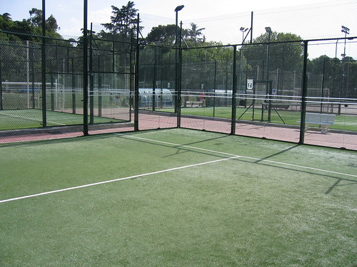Back of Padel Court