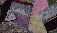 Croquet Cushion -  close up of seam embellishments