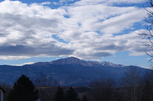 Pikes Peak, cloudy day