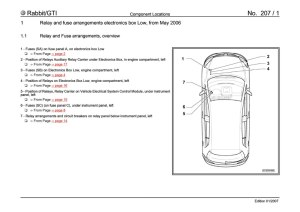 VWVortex  MKV Fuse Panel Diagram