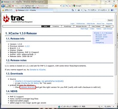 Release page at XCache 1.3.0 with link target