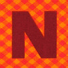 Fabric letter N