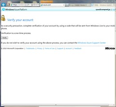 Verify LiveID for use Azure