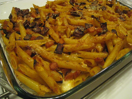 Baked Pasta with Ricotta and Ham