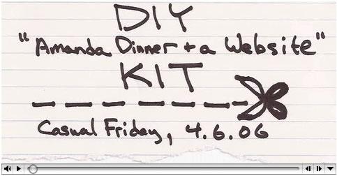 DIY Amanda Dinner + a Website Kit