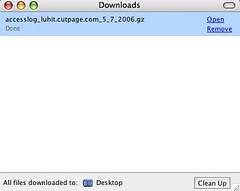 Default Firefox Downloads Window
