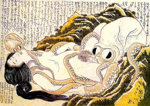Hokusai Dream of the Fisherman's Wife