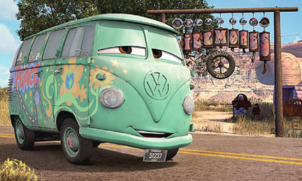 A Guide To The Reallife Cars Movie Characters And Places - Famous movie cars beautifully illustrated