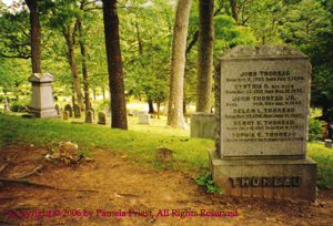 Thoreau Tombstone