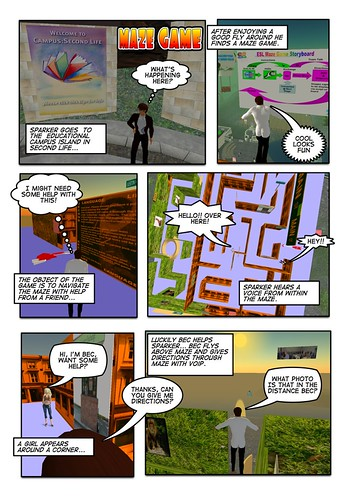 Creating comics with SecondLife & ComicLife By Steven Parker