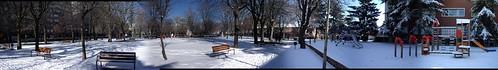 parque con nieve en leon