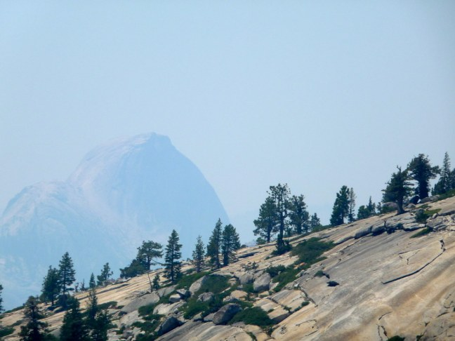A barely visible Half Dome