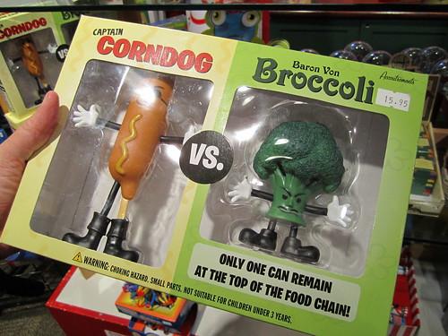 Corndog vs. Broccoli