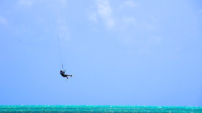 Kiteboarder at Curry Hammock State Park
