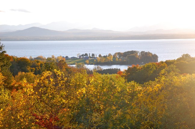 Lone Tree Hill overlooking Lake Champlain