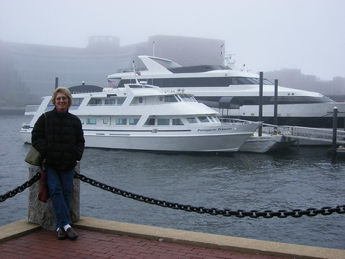 Mom at Boston Harbor