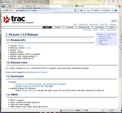 Release page at XCache 1.3.0