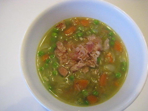 Two Pea Soup with Frizzled Ham