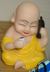 Buddha on a phone