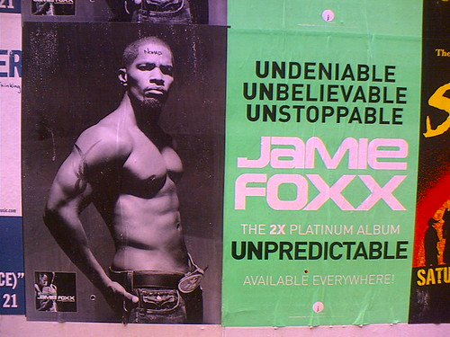 A poster for Jamie Foxx's album Unpredictable