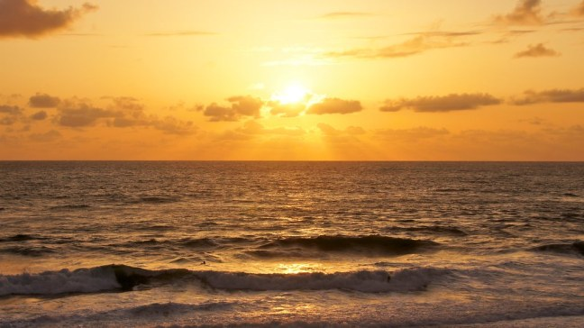 Sunset at Sea and Sand RV Park