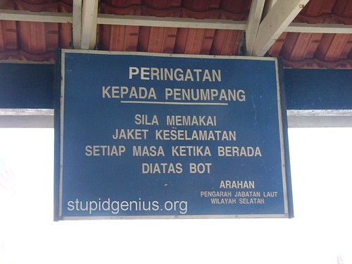 Sign at jetty