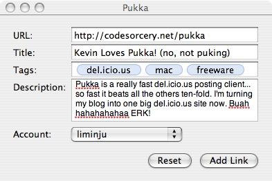 Pukka: Lite del.icio.us Mac client