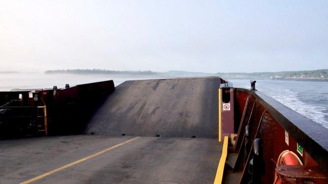 Aboard ferry to Deer Island