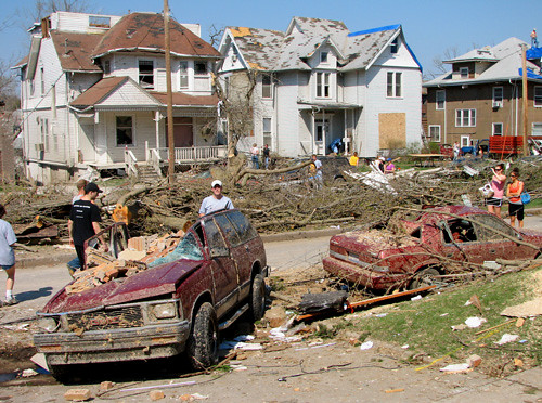 The aftermath of a tornado. (Courtesy of Flickr)