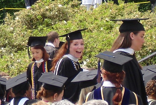First smile as a college graduate!!