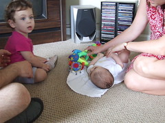 Visiting Baby Caroline!