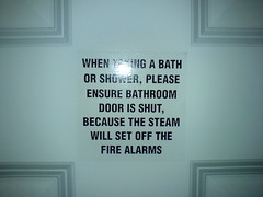 Steamy Shower Warning
