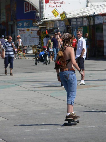 Skeg Girl at Venice Beach