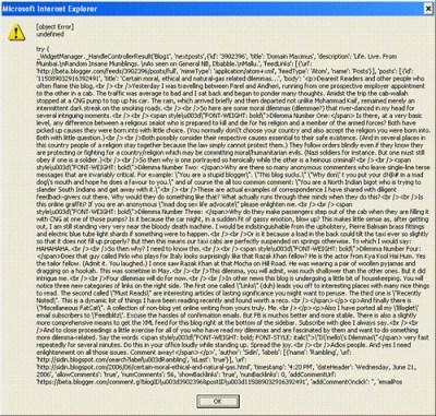 biggest error message
