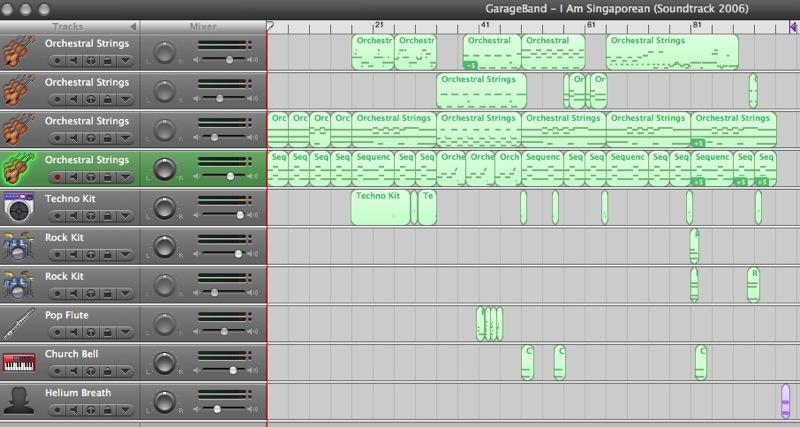 GarageBand - I Am Singaporean Soundtrack