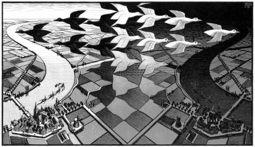 Dia y noche de Escher