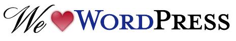 We ♥ WordPress Logo