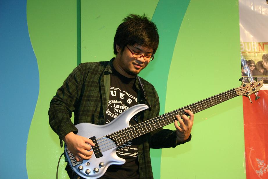 Paul Yap and his bass
