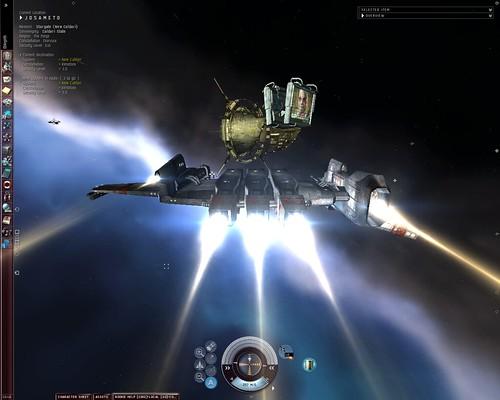 2005.12.25.10.48.56 Kestrel Approching to New Caldari Stargate