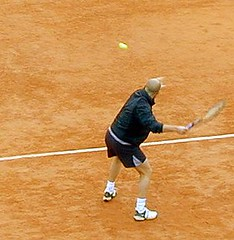 Andre Agassi under French Open 2001
