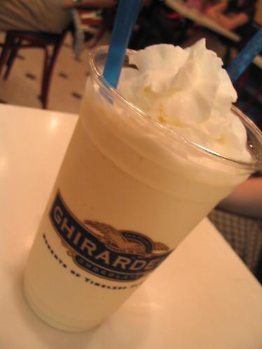 Ghirardelli's vanilla milkshake