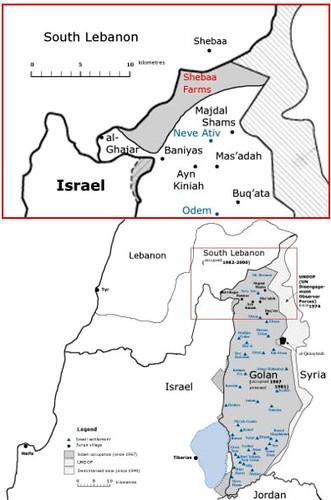 Map of Shebaa Farms