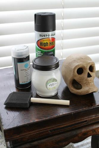 Glitter Skull DIY