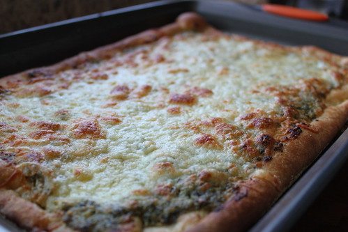 White Cheddar Pesto Pizza