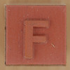 Rubber Stamp Letter F